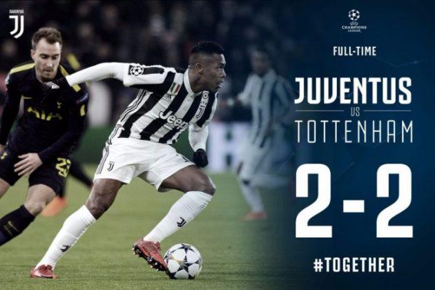 DOWNLOAD VIDEO: Juventus vs Tottenham 2-2 – Highlights & Goals