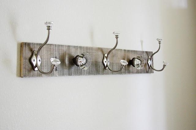 Pallet Coat Rack Glass Door Knob Repurpose Beingbrook