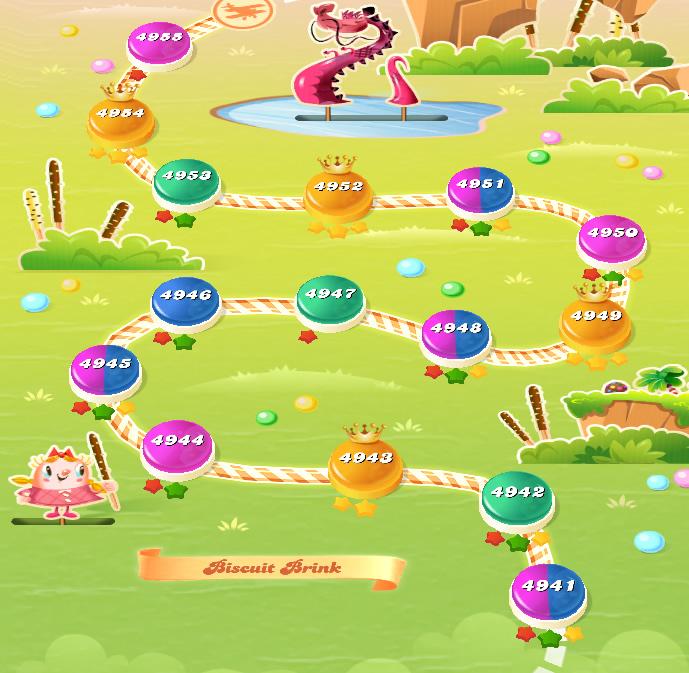 Candy Crush Saga level 4941-4955
