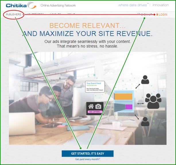 Gambar Petunjuk Cara Daftar dan Menghasilkan Uang Online di Chitika