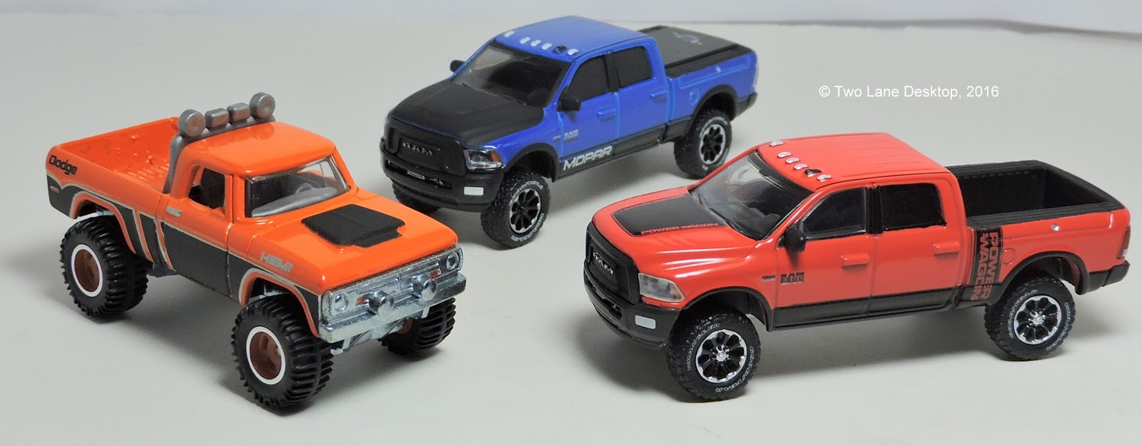 two lane desktop hot wheels 1970 and greenlight 2017 dodge ram power wagon. Cars Review. Best American Auto & Cars Review