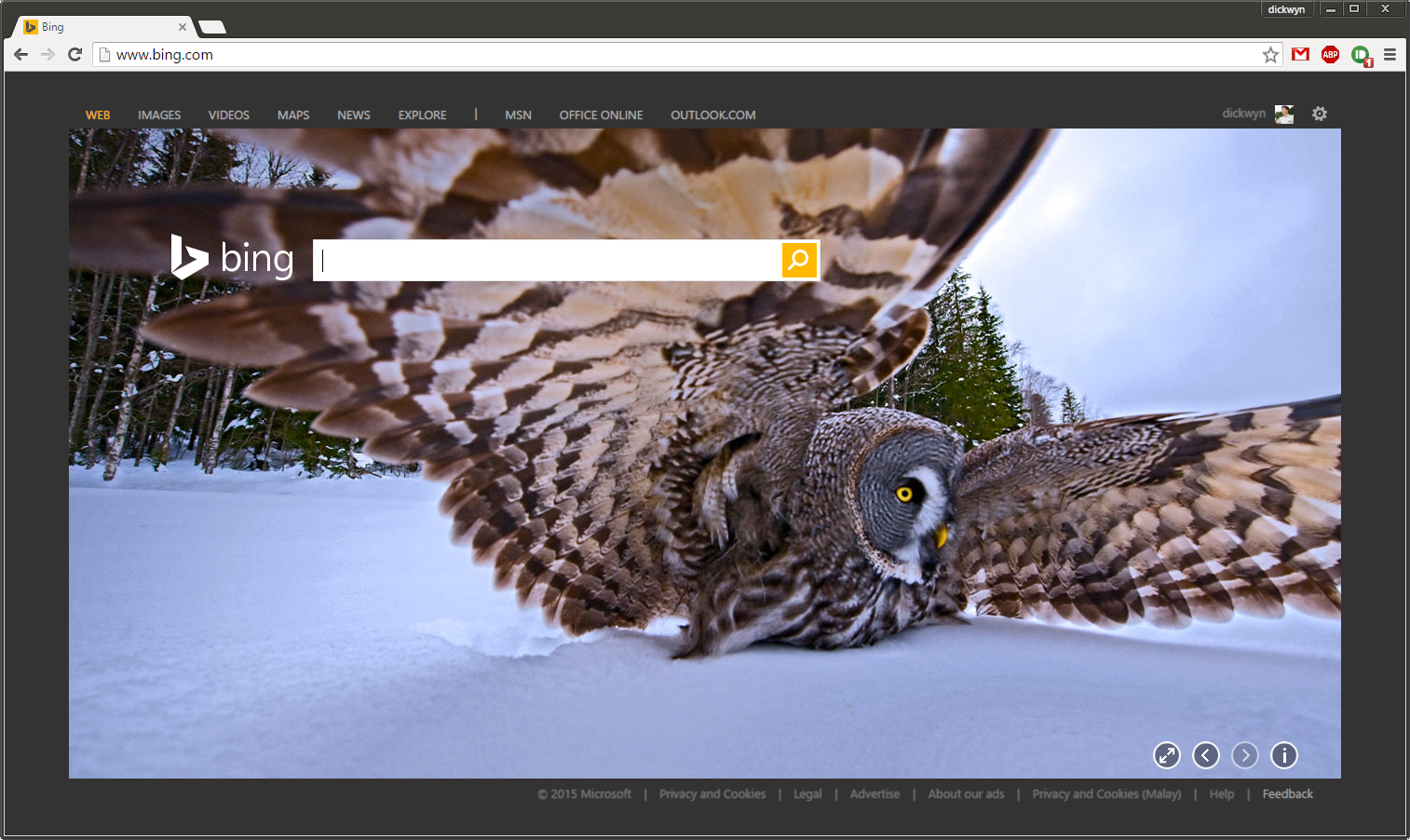 bing-homepage-microsoft-account