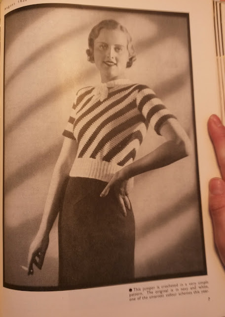The Vintage Pattern Files: Free 1930s Crochet Pattern - Getting a New Slant On Things