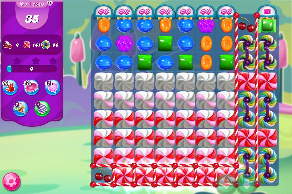 Candy Crush Saga level 7510
