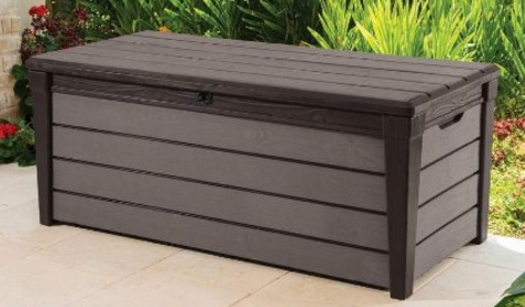Keter Brushwood 120 Gal. Resin Patio or Pool Deck Box, Keter Plastic Deck Storage Container Box, Keter Deck Box, Lockable Keter Deck Box, Keter Outdoor Storage Bench, Keter Deck Box Seat, Keter Resin Deck Box, Keter Deck Storage Box,
