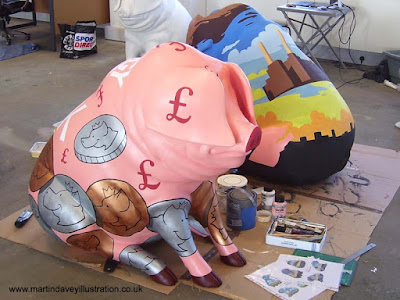 M P Davey pig henson money bank design