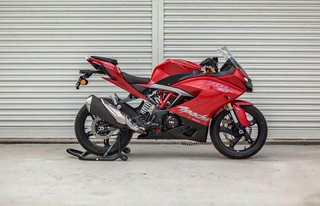 New 2018 TVS Apache RR 310 Bike side look hd pics