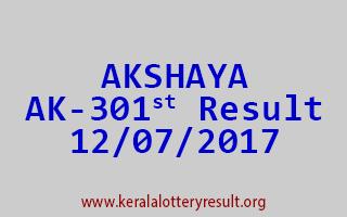 AKSHAYA Lottery AK 301 Results 12-7-2017