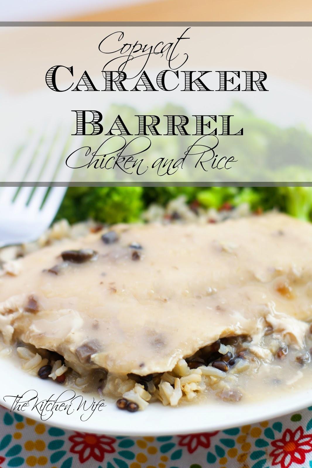 Copycat Cracker Barrel Crockpot Chicken And Rice Recipe The