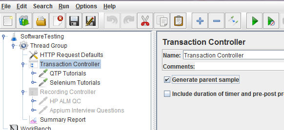 Transaction controller in jmeter - sample controller