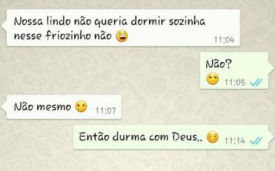whatsapp gospel mensagens dorme com Deus nosso foco tv