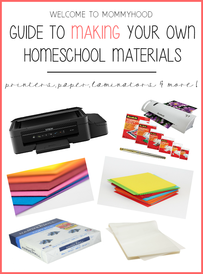 Guide to making your own homeschool materials by Welcome to Mommyhood #homeschool, #preschool, #homeschoolmaterials, #montessorimaterials
