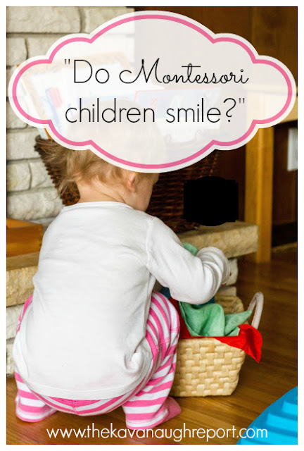 Montessori children often look serious. But, do they smile? Yes! Montessori children are full of joy, imagination and silliness.