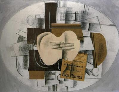 Georges Braque - La guitare  statue d'épouvante - 1913 - Musée Picasso