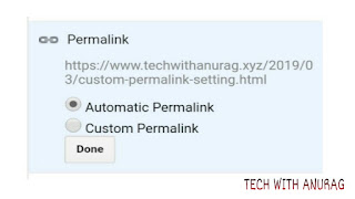 Automatic Permalink Setting In Blogger