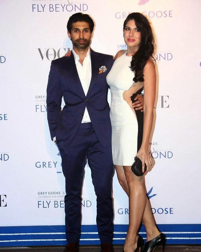 Uraaz Bahl, Shaana Levy, Pics from Red Carpet of Grey Goose & Vogue's Fly Beyond Awards 2014