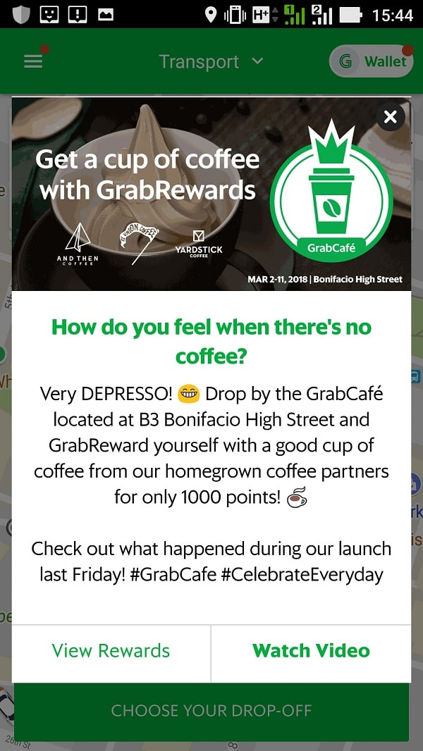 Experience GrabCafé