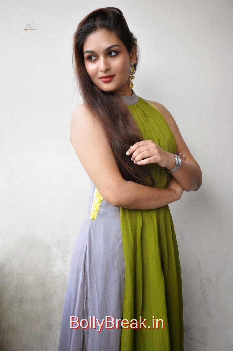 Prayaga Martin images, Actress Prayaga Martin Hot HD Images in Green dress