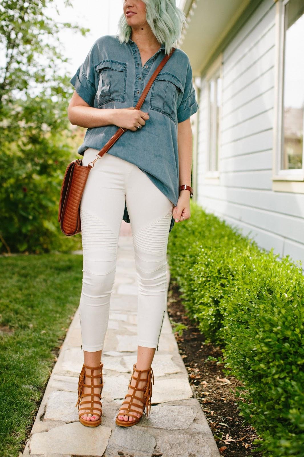 White Jeans Outfit, Winnie James, Mari A