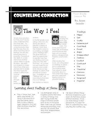 Hanselor the Counselor: 1st Grade Lesson