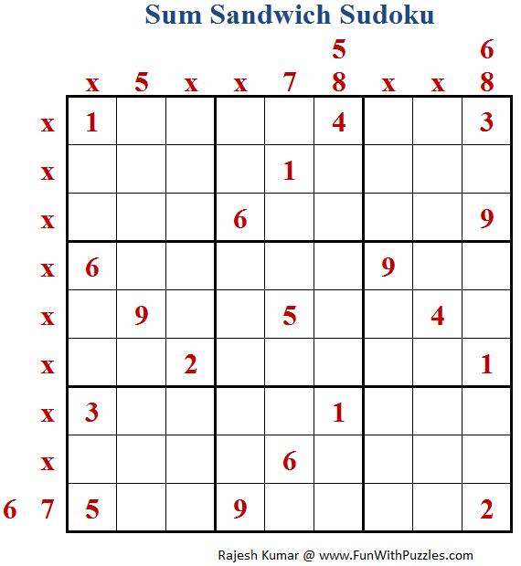 Sum Sandwich Sudoku (Fun With Sudoku #173)