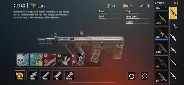 اسلحة ببجي, بندقية, بندقية Groza, لعبة ببجي, AKM Gun, Groza, Gun, PUBG,