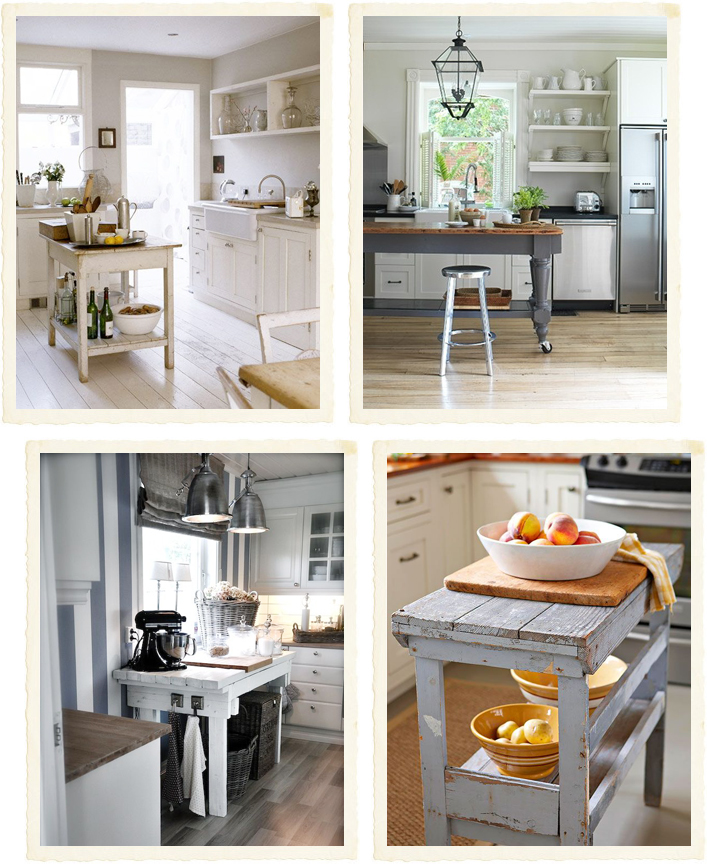 Bancone fai da te in cucina shabby chic interiors - Tavolo lavoro cucina ...