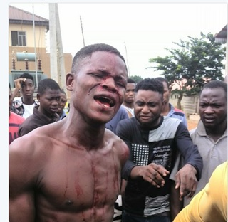 See What Students Did To A Thief Who Stole Phone During Protest.(Photos)