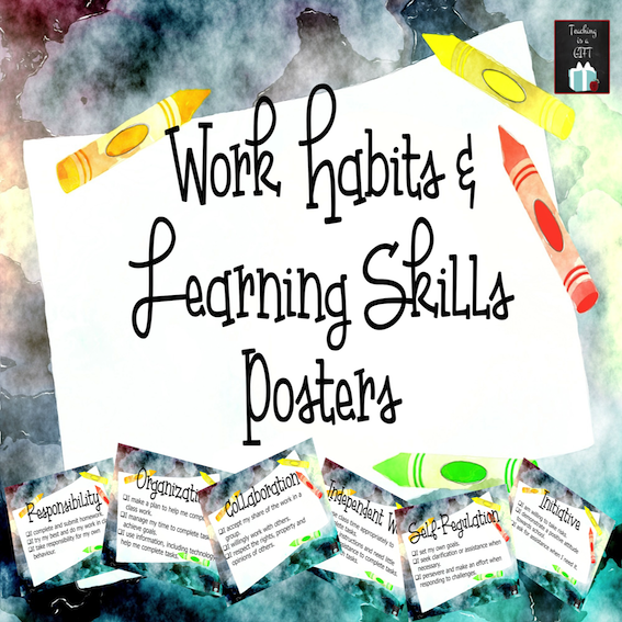 Work Habits and Learning Skills Posters
