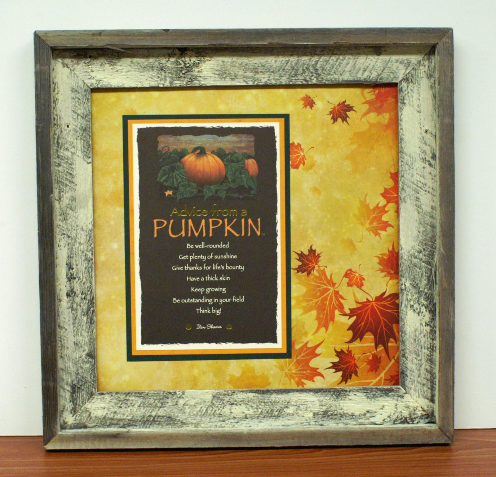 Ben Franklin Crafts and Frame Shop: Advice From a Pumpkin Wall Art