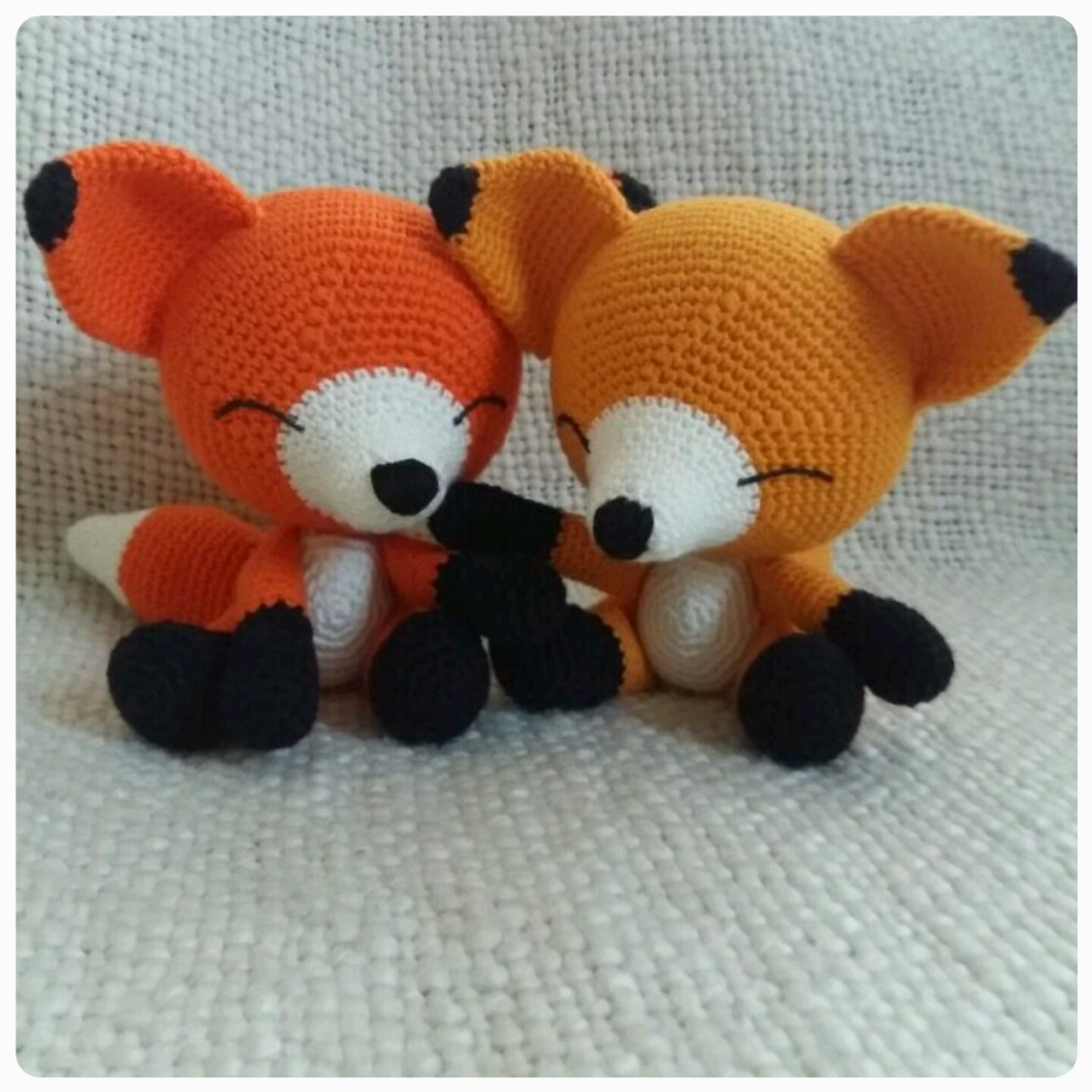 Sleepy fox amigurumi by StitchedLoveCrochet on DeviantArt | 1280x1280