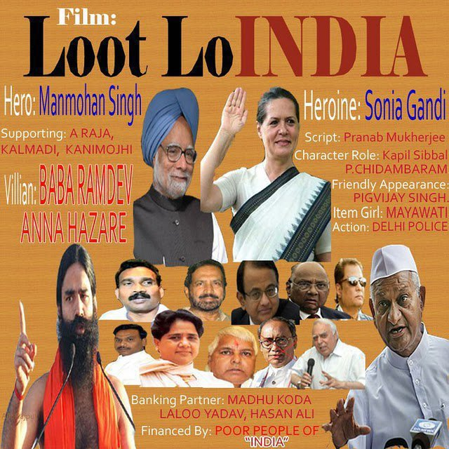 We Hate Congress Party 'The corrupted party of India ...