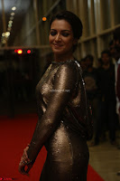 Actress Catherine Tresa in Golden Skin Tight Backless Gown at Gautam Nanda music launchi ~ Exclusive Celebrities Galleries 026.JPG
