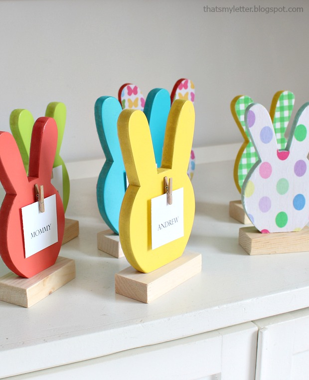 diy bunny head place cards