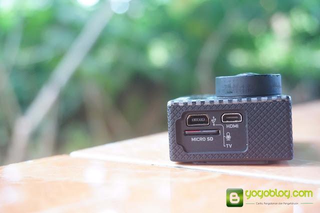 Tampak Samping GoPro Hero 3+ Black Edition