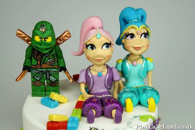 Shimmer and Shine Cake Figures