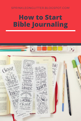 Sprinkle On Glitter Blog// start Bible Journaling