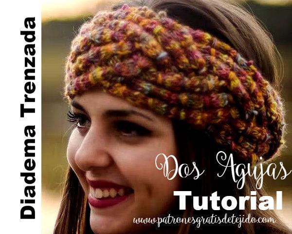 Diadema Trenzada Tejida a Dos Agujas / Tutorial | Crochet y Dos ...