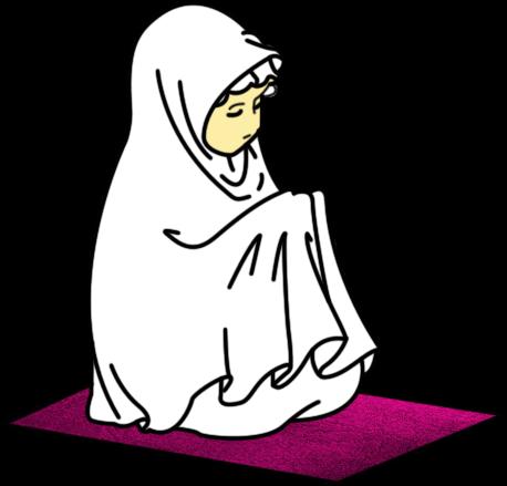 36 Keren Gambar Kartun Orang Lagi Berdoa