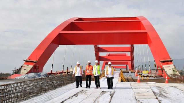 Jembatan sepanjang 700 meter lebih di Papua - Foto: Biro Pers Setpres/Laily Rachev