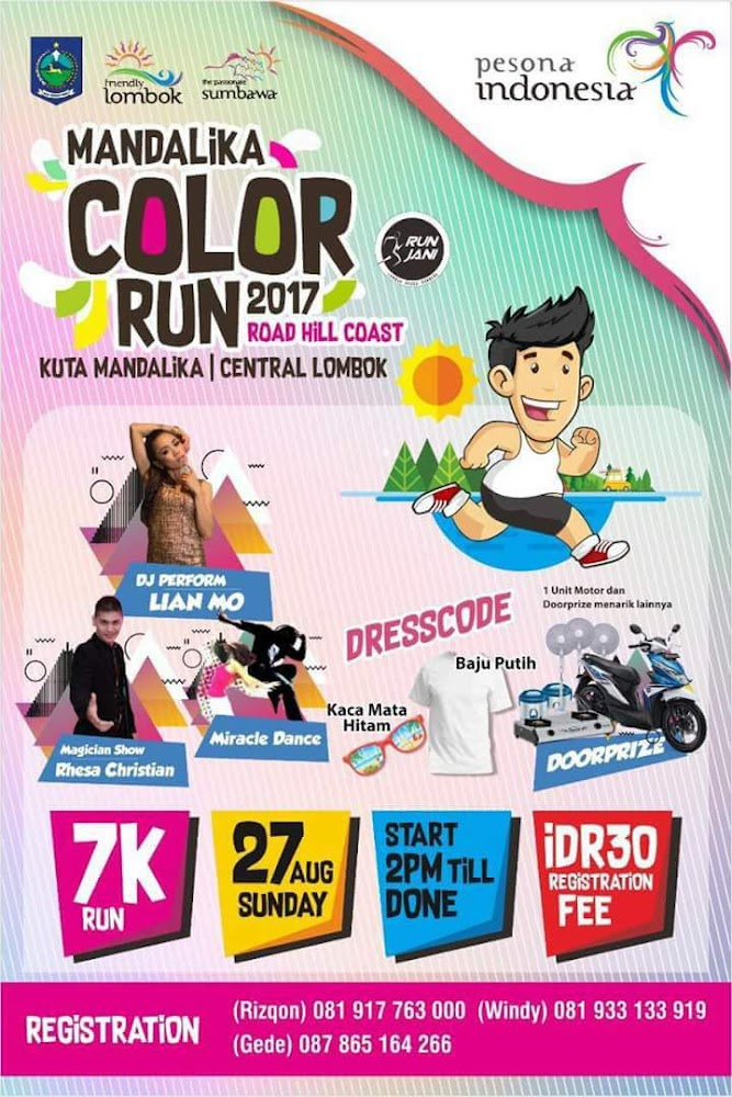 Mandalika Colour Run • 2017