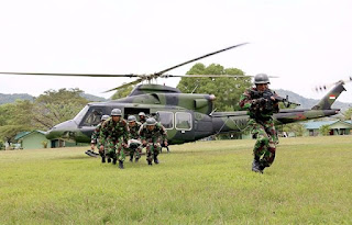 TNI Gelar Latihan Evakuasi Udara Medis Agar Prajurit Profesional atasi Bencana