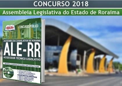 Concurso ALE-RR 2018 Assessor Técnico Legislativo