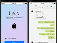 BBM Mod Like iOS Theme v3.3.2.31 Apk Multi