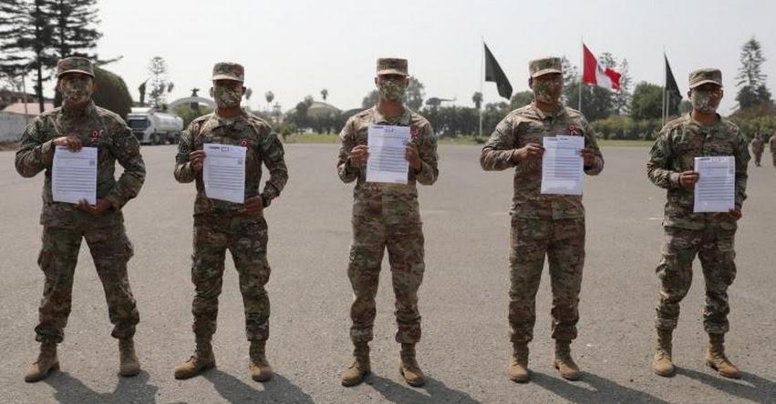 Ministerio de Trabajo entregó a más de mil reservistas del Ejército Peruano certificado «Certijoven»
