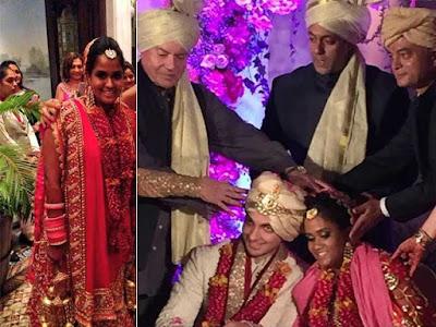Bride Arpita in Abu Jani Lehenga