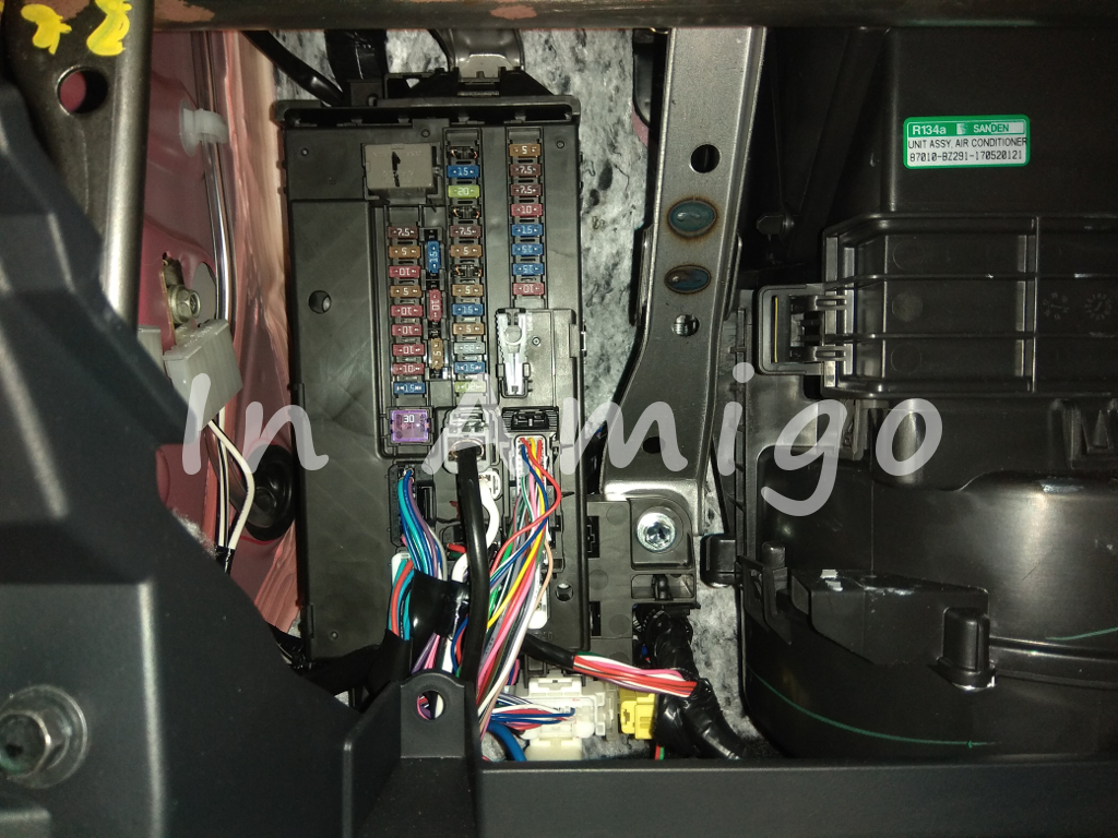 Hiding Dashcam Cable Guide Perodua Axia Power Fuse Box City After That The Will Reveal Itself Just Behind Glove Together With Aircond Blower Next To It