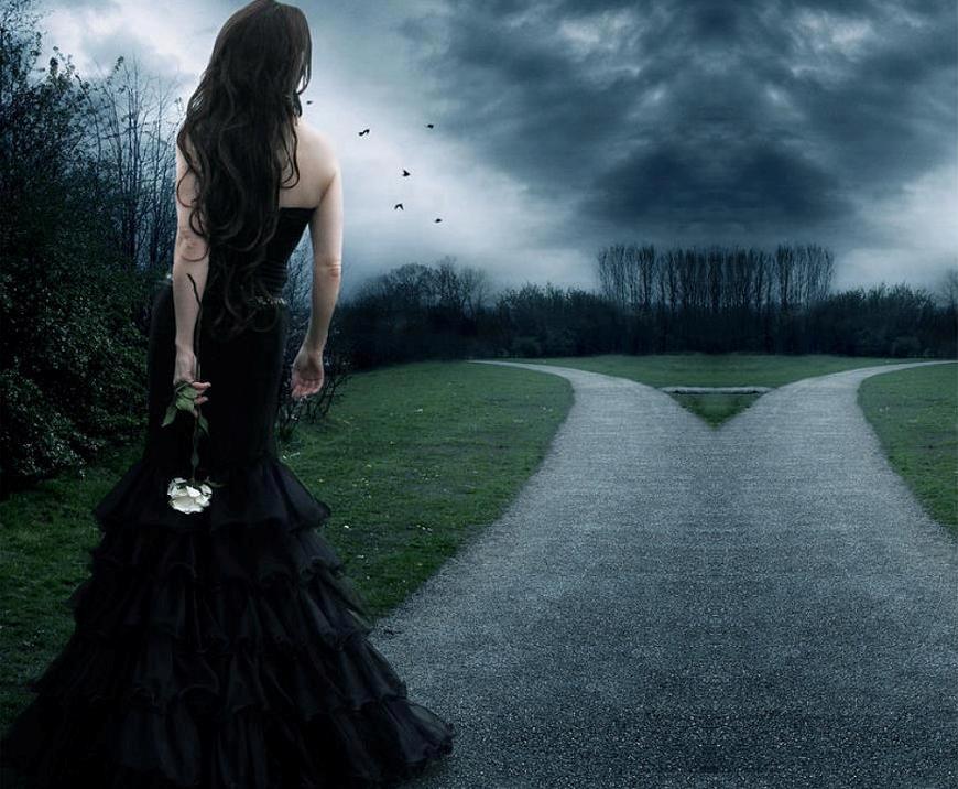 Simple Gothic Wedding Dresses