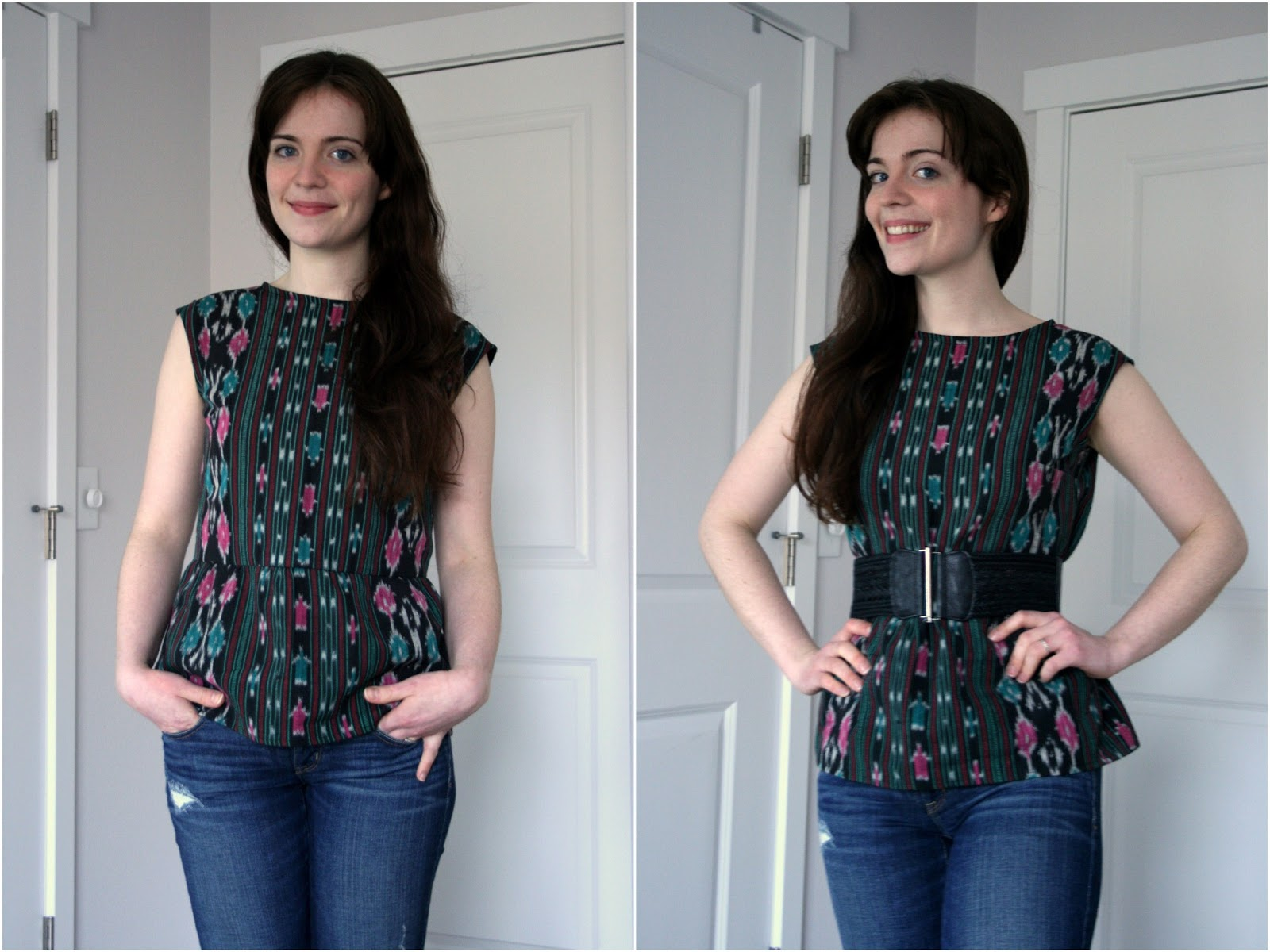 fc98db8762aa How to make a peplum top out of any dress pattern! Two ways ...