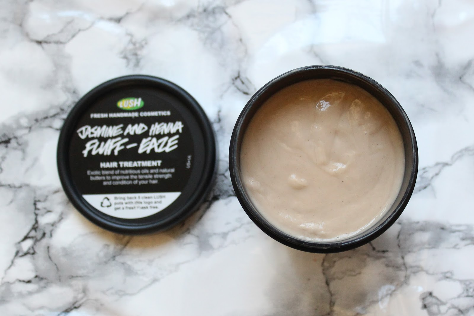 LUSH Jasmine & Henna Fluff Eaze Hair Treatment Review